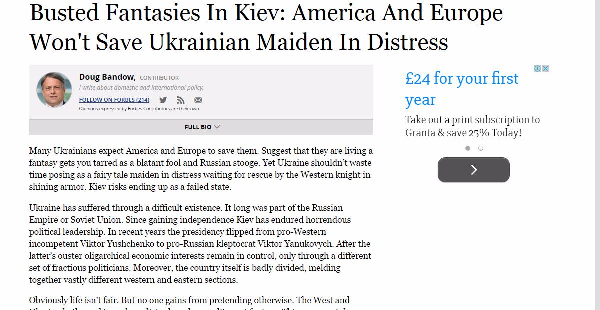 Скриншот сайта Forbes.com