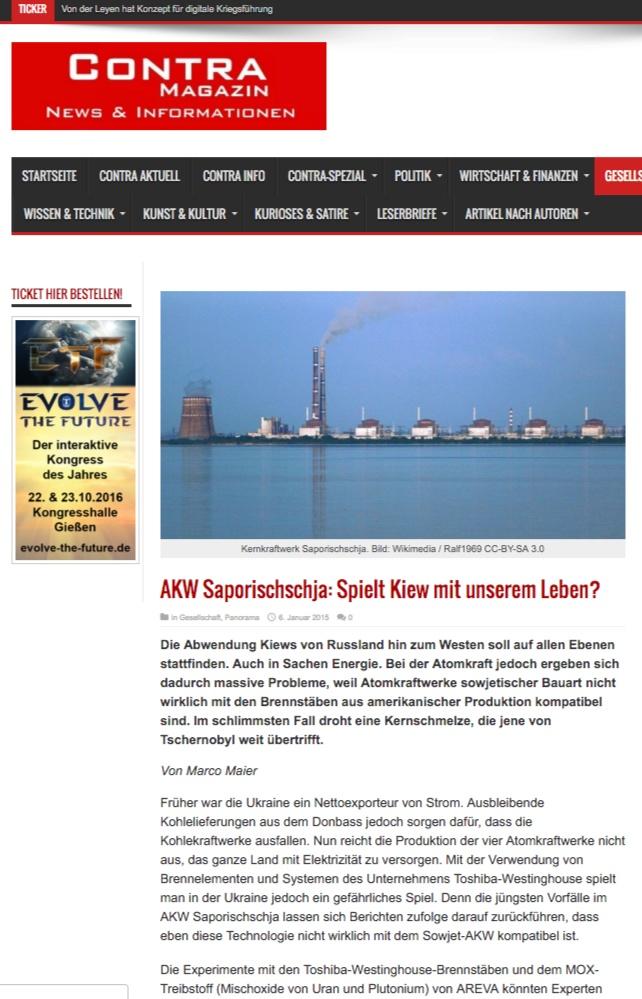 "Скриншот сайта ""Contra Magazin"""