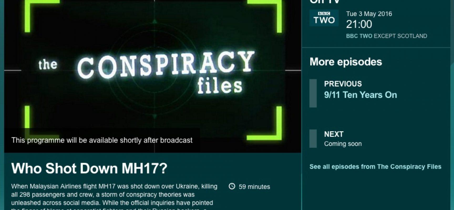 Fake: La BBC accusa l'Ucraina di aver abbattuto il volo MH17