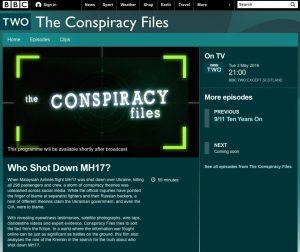 Website screenshot BBC