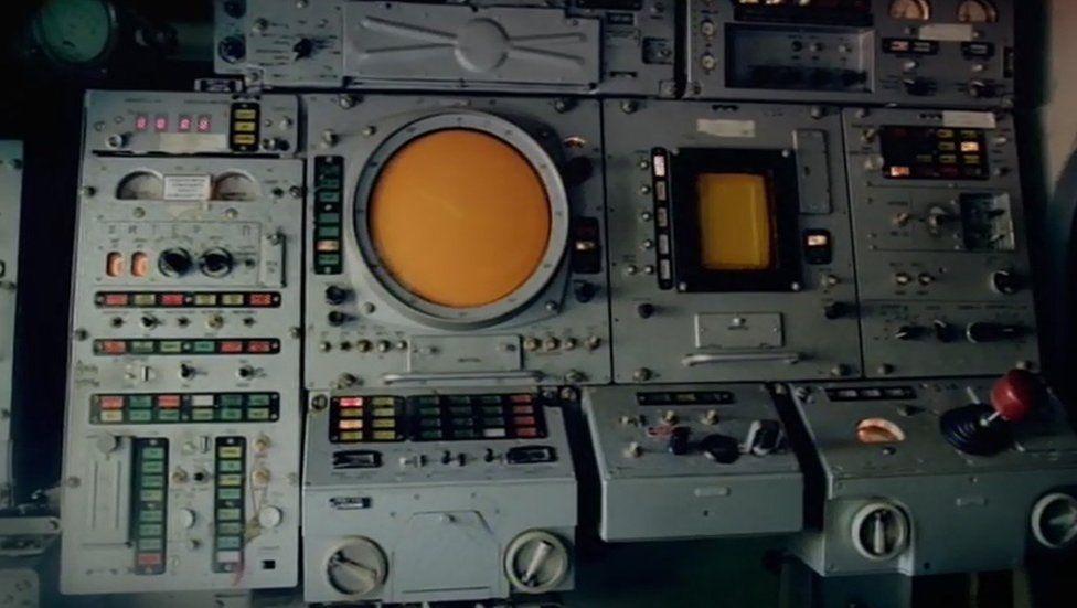 Inside a Buk missile launcher