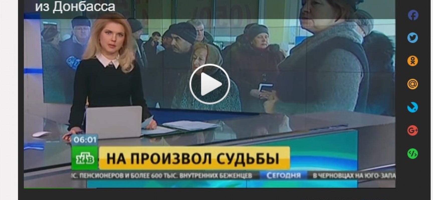 Fake : Kiev ha sospeso il pagamento dei contributi sociali a 600 mila sfollati interni