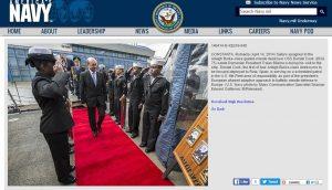 Le Président Roumain a rencontré personnellement la marine américaine