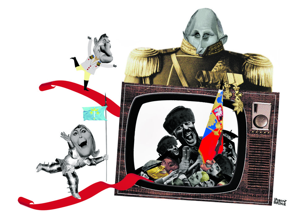 Russia Today: allo Paris, ici Moscou. Illustration Laurent Blanchier