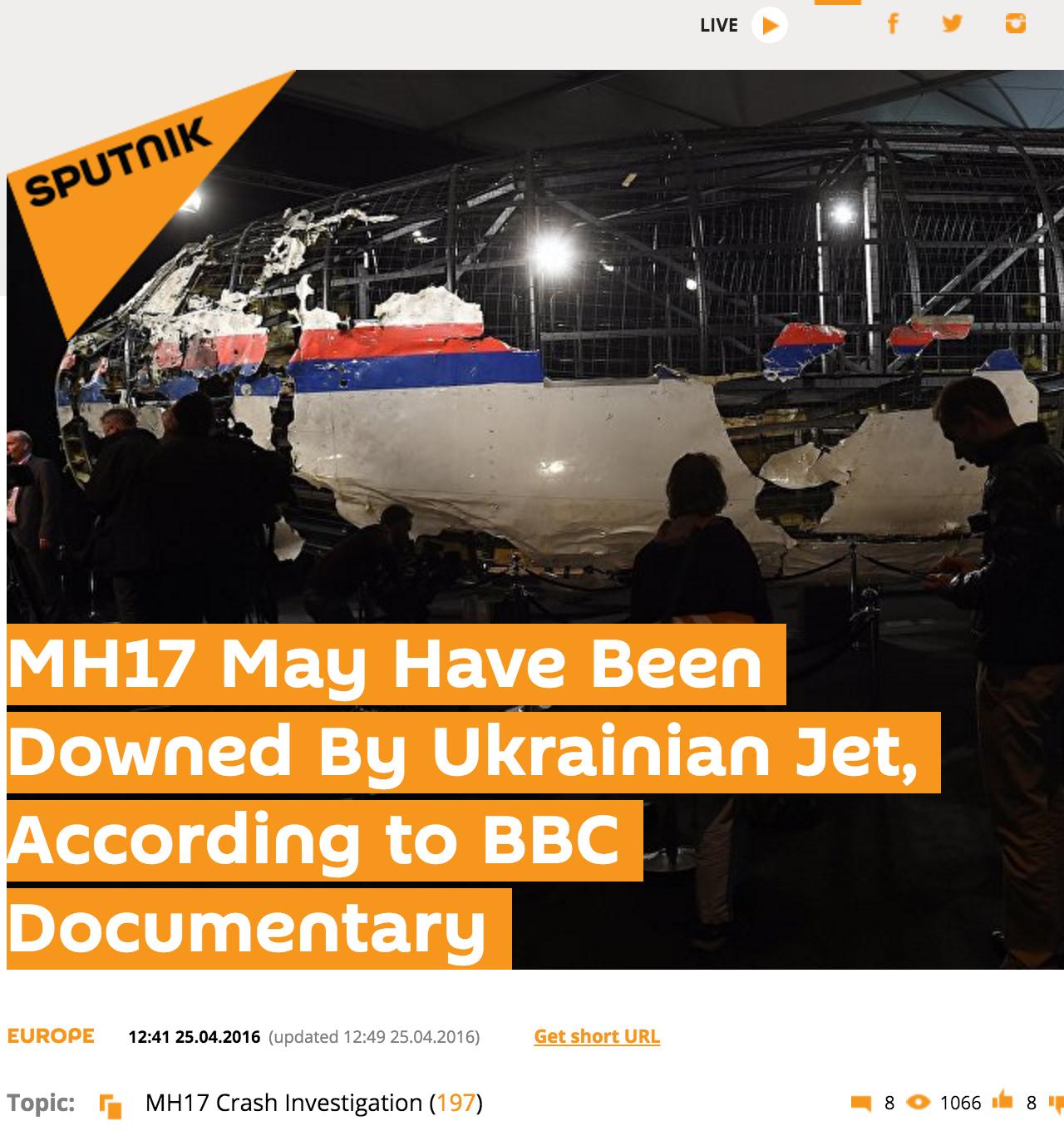 Website Screenshot de Sputnik