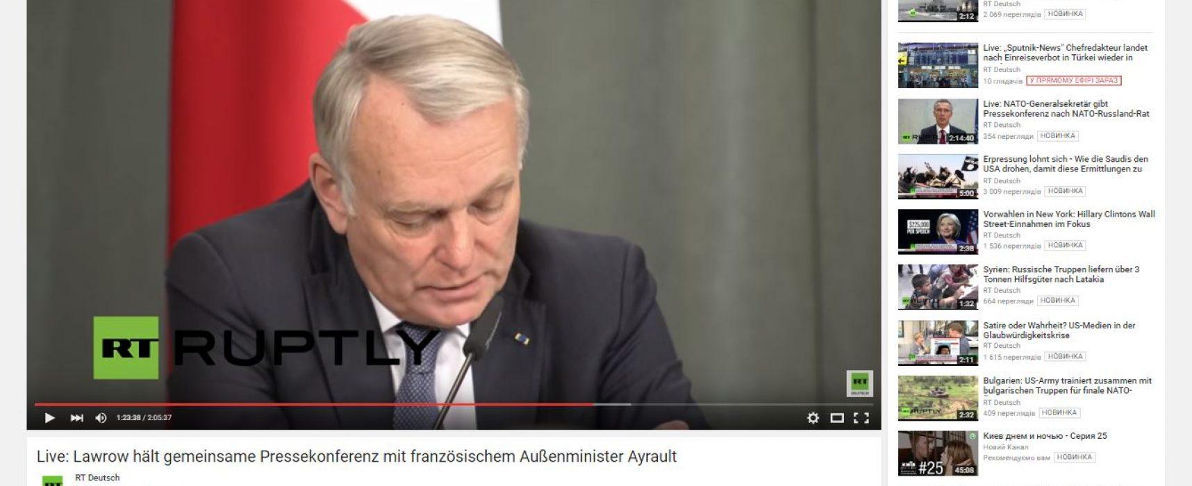 Los medios de comunicación rusos y ucranianos distorsionaron las palabras del ministro de Asuntos Exteriores de Francia