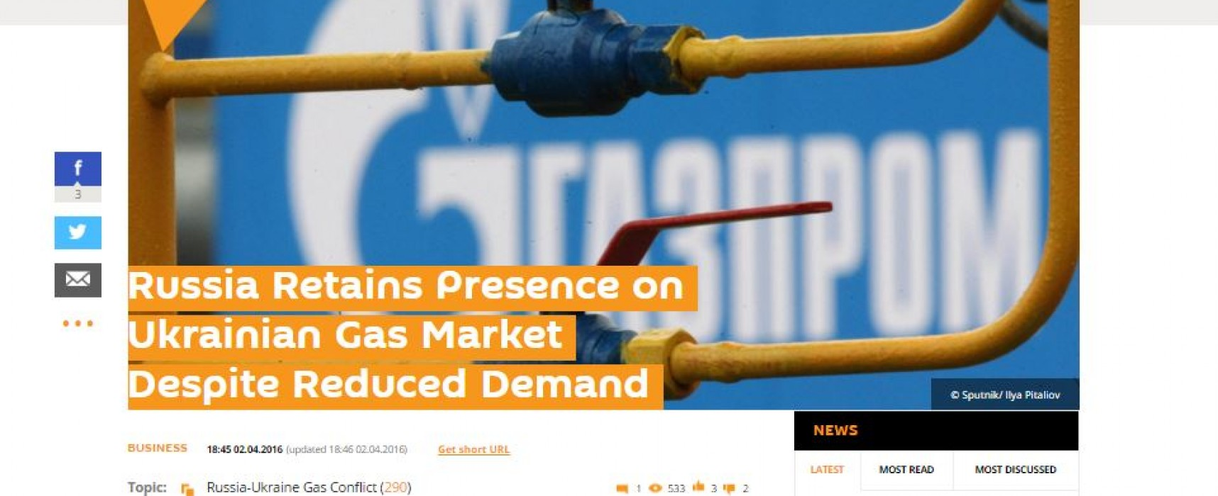 Fake: l'Ucraina continua ad acquistare gas dalla Russia