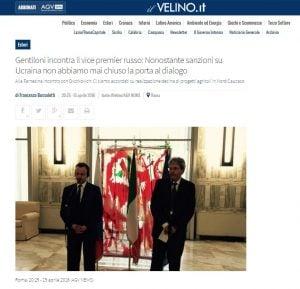 Website screenshot Il Velino