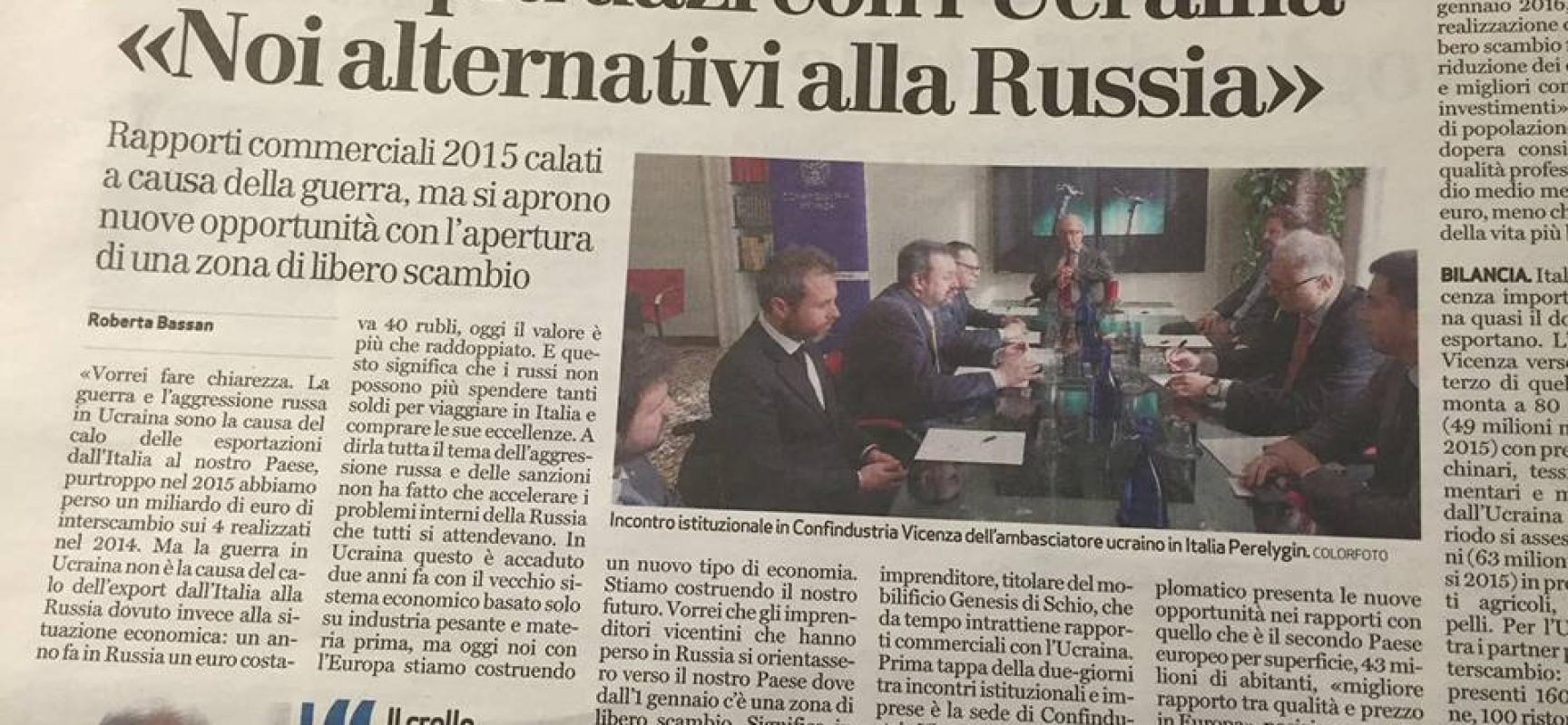 L'Italia perde un miliardo in Ucraina a causa dell'aggressione russa