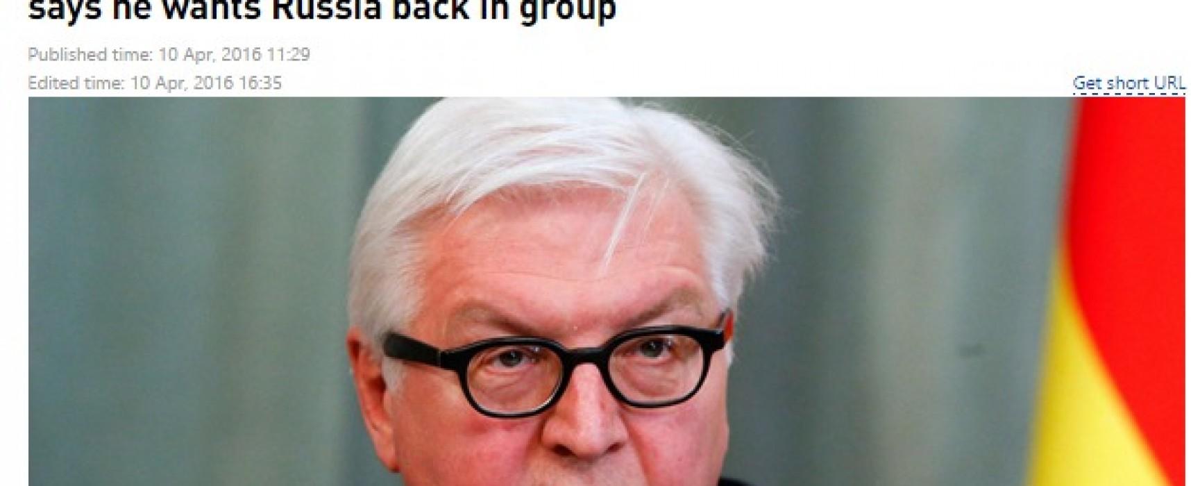 RT исказил слова главы МИД Германии