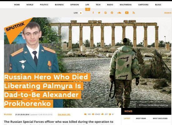 Fake : Alexander Prokhorenko eroe di Palmira