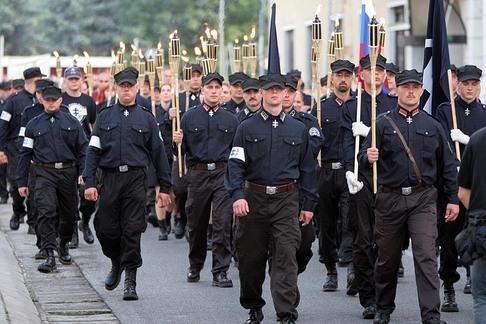 Manifestazione del partito ĽudováStranaNašeSlovensko