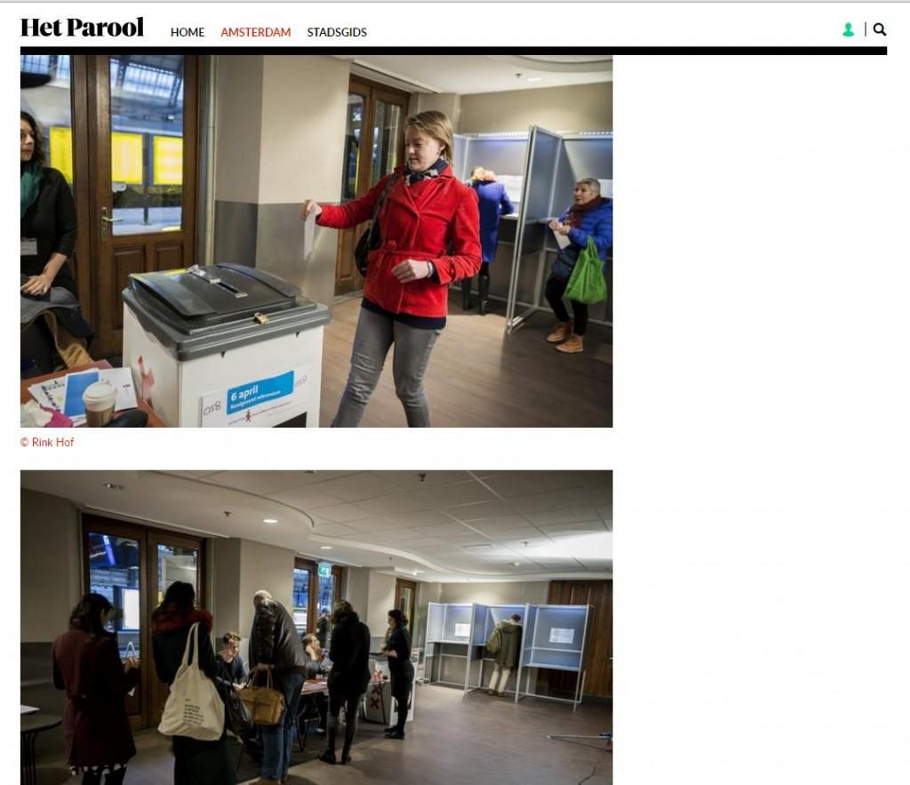 Скриншот на сайта Parool.nl