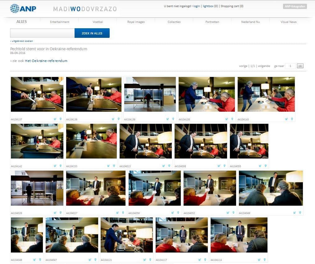 Cкриншот на сайта ANP Photo