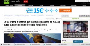 Website screenshot Russia Today