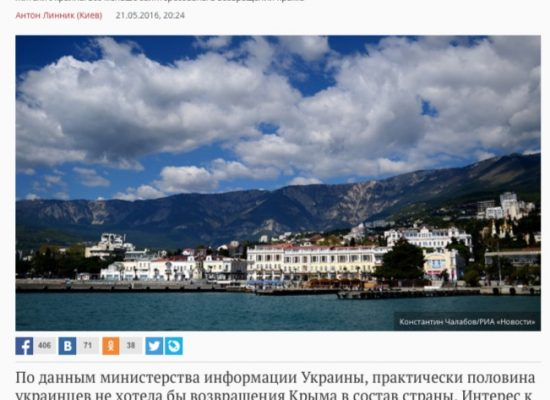 Fake: Agli ucraini non serve la Crimea
