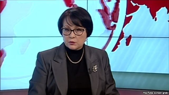 "Lilia Budzhurova of the Crimean Tatar TV channel ATR was warned by prosecutors over ""extremist"" views"