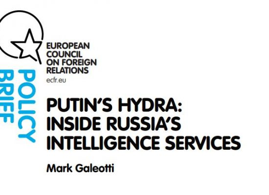Mark Galeotti: «La Hidra de Putin: Los servicios de inteligencia rusos»