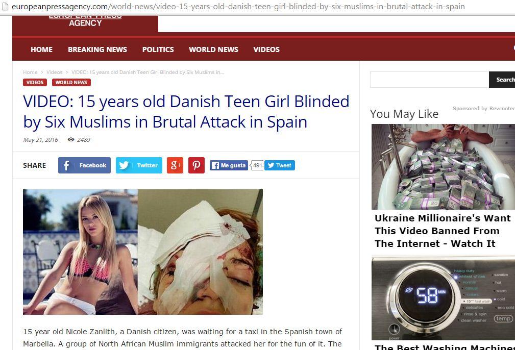 Captura de pantalla de European Press Agency