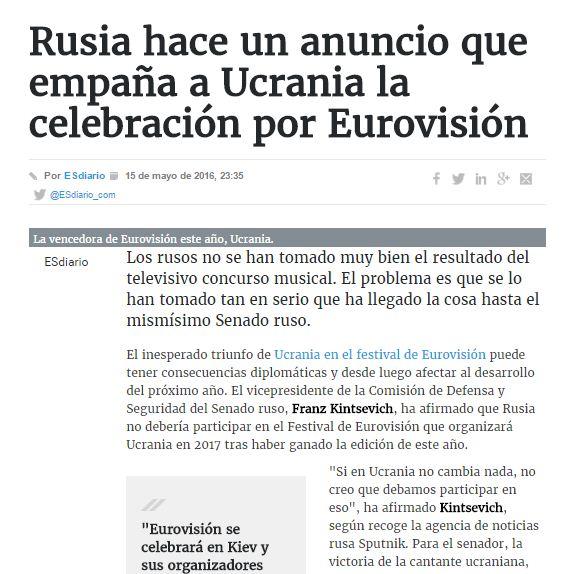 Captura de pantalla de la nota de ESdiario