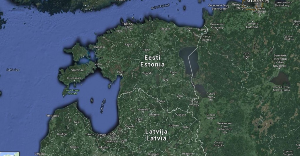 CHECKING BRIDGES: Russian diplomats have mapped, on foot, bridges along the East-Western highway corridor of Estonia, starting from the Russian border, according to secret NATO reports. Photo: Google maps