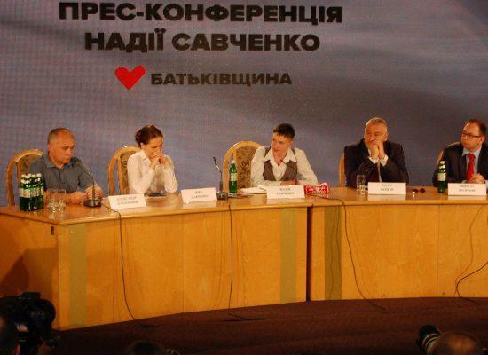 Conferenza stampa di Nadia Savchenko