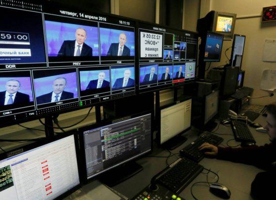 El Kremlin controla la televisión