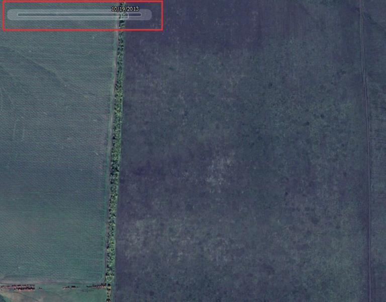 Captura de pantalla de Google Earth del 19 de octubre de 2013.
