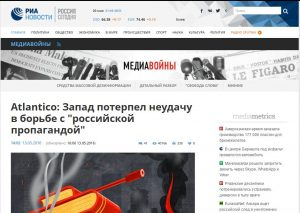 Website screenshot de RIA Novosti