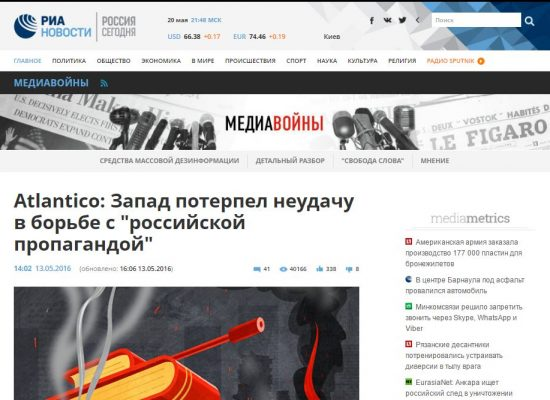 "Fake: L'Occidente ha fallito nella lotta contro ""la propaganda russa"""