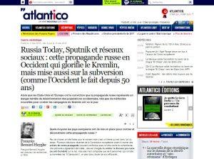 Website screenshot de Atlantico