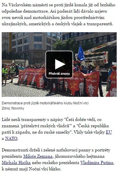 Screenshot de pe site-ul novinky.cz