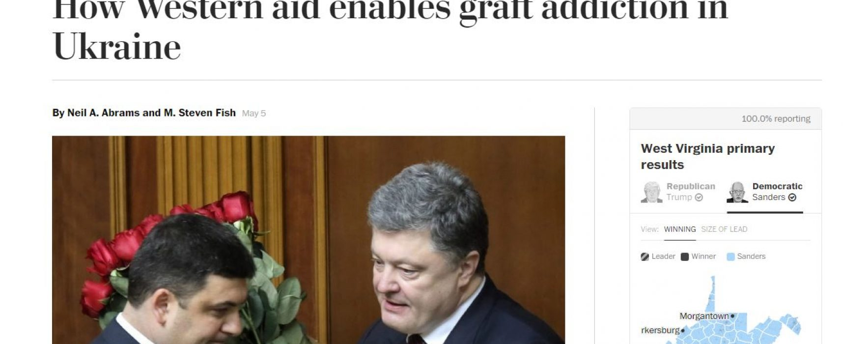 Fake: Washington Post roept op hulp aan Oekraïne te beëindigen