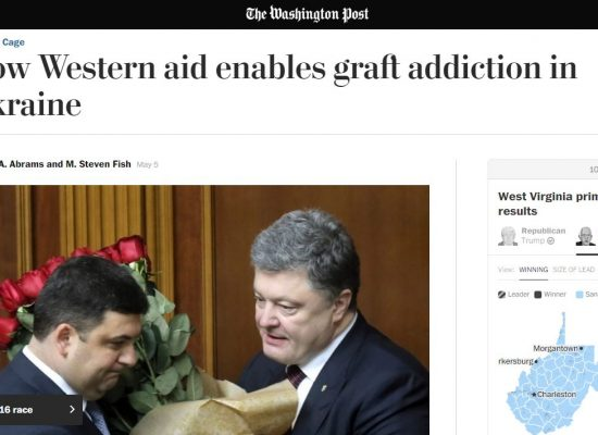 Fake: Washington Post Calls  for Ukraine Aid Cut