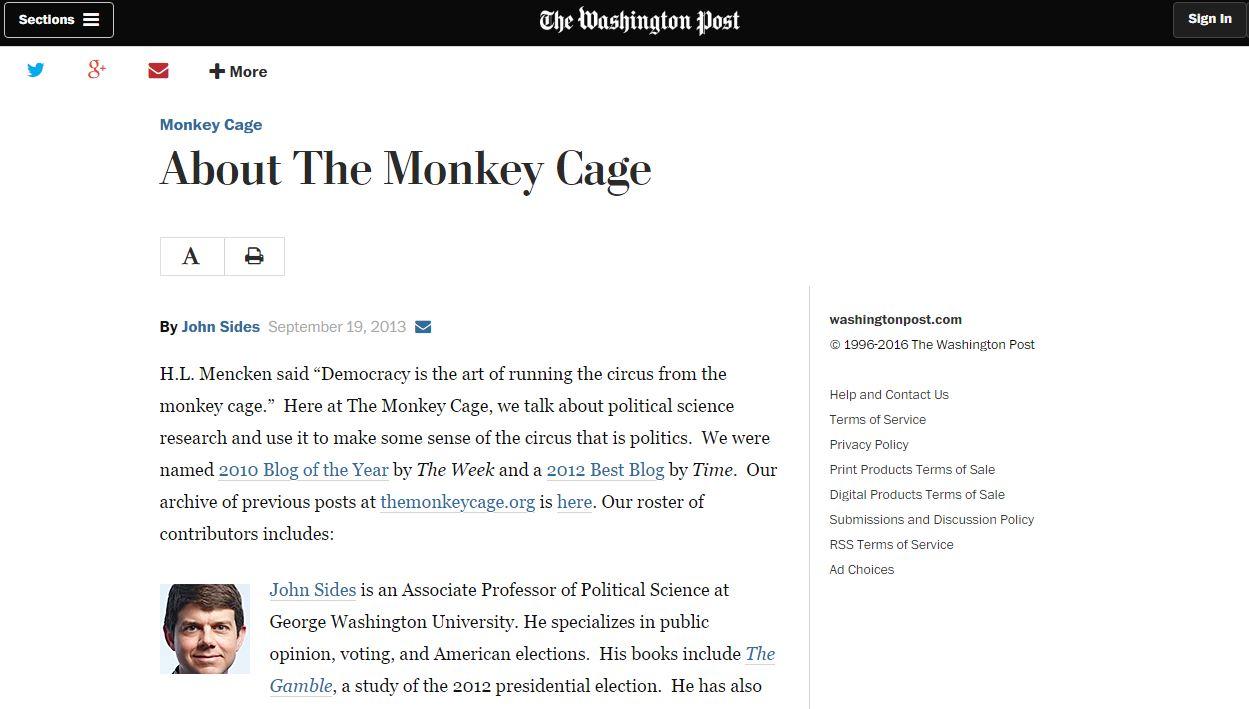 Website screenshot Washington Post