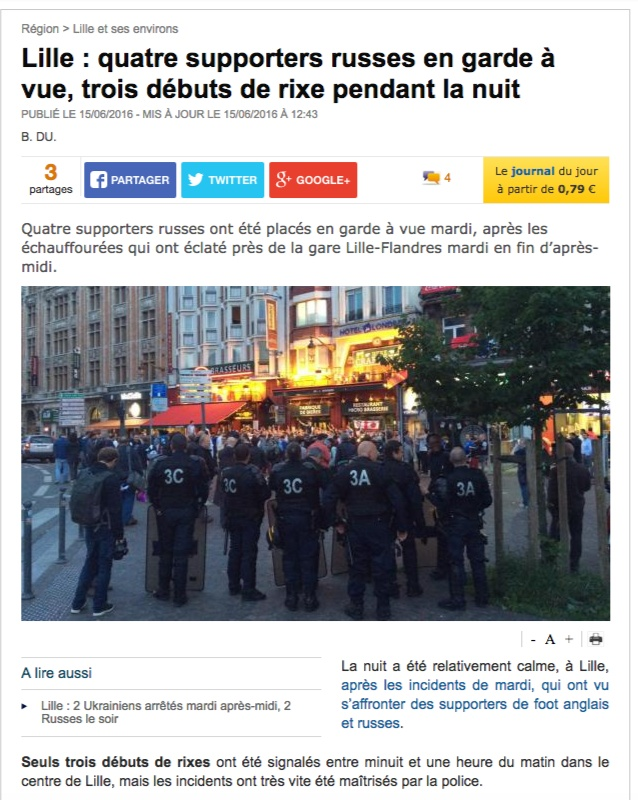 Скриншот на сайта lavoixdunord.fr