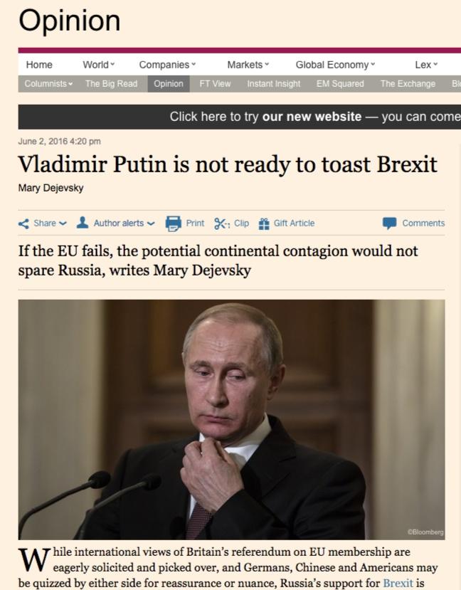 Скриншот сайта Financial Times