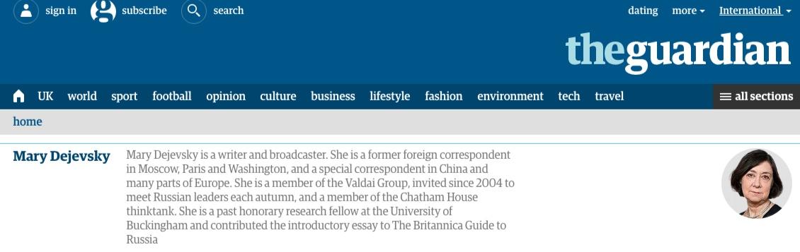 Скриншот сайта The Guardian