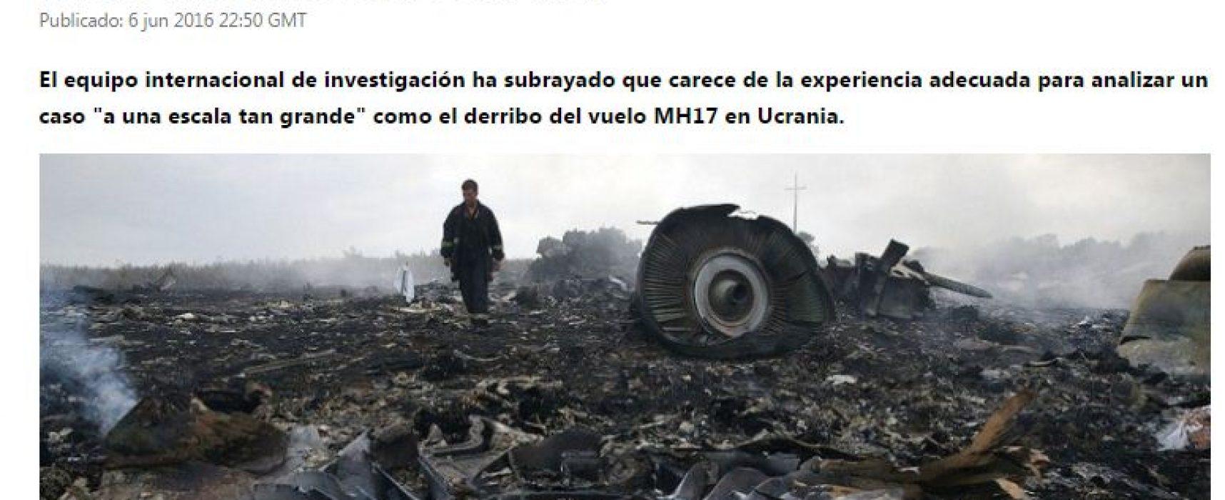 El canal RT mostró a los investigadores de la caída del MH17 como que no supiesen nada