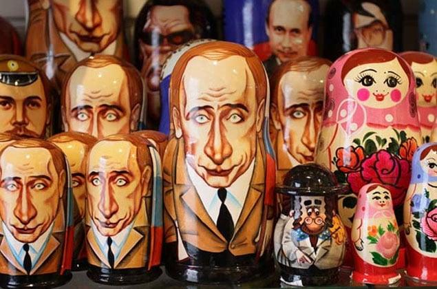 Matryoshka with Putin's face. Photo from: http://cdn01.ru/