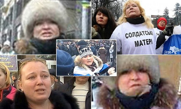 attrice russa in donbass