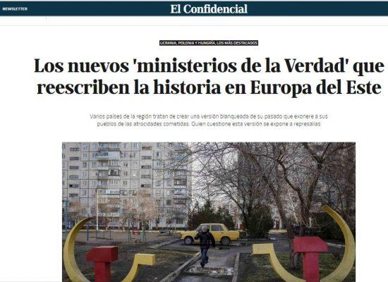 El Confidencial acusó a Ucrania por tener un 'ministerio de la Verdad' basándose en los datos erróneos