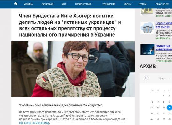 Fake van Die Linke: Oekraïense parlementsvoorzitter ontkent rechten Oost-Oekraïners