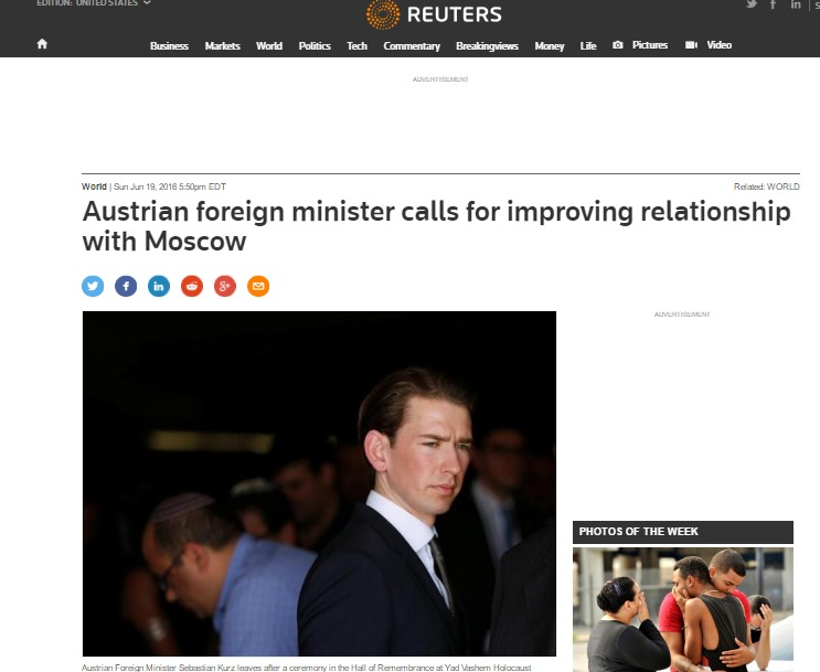 Website screenshot de Reuters.com