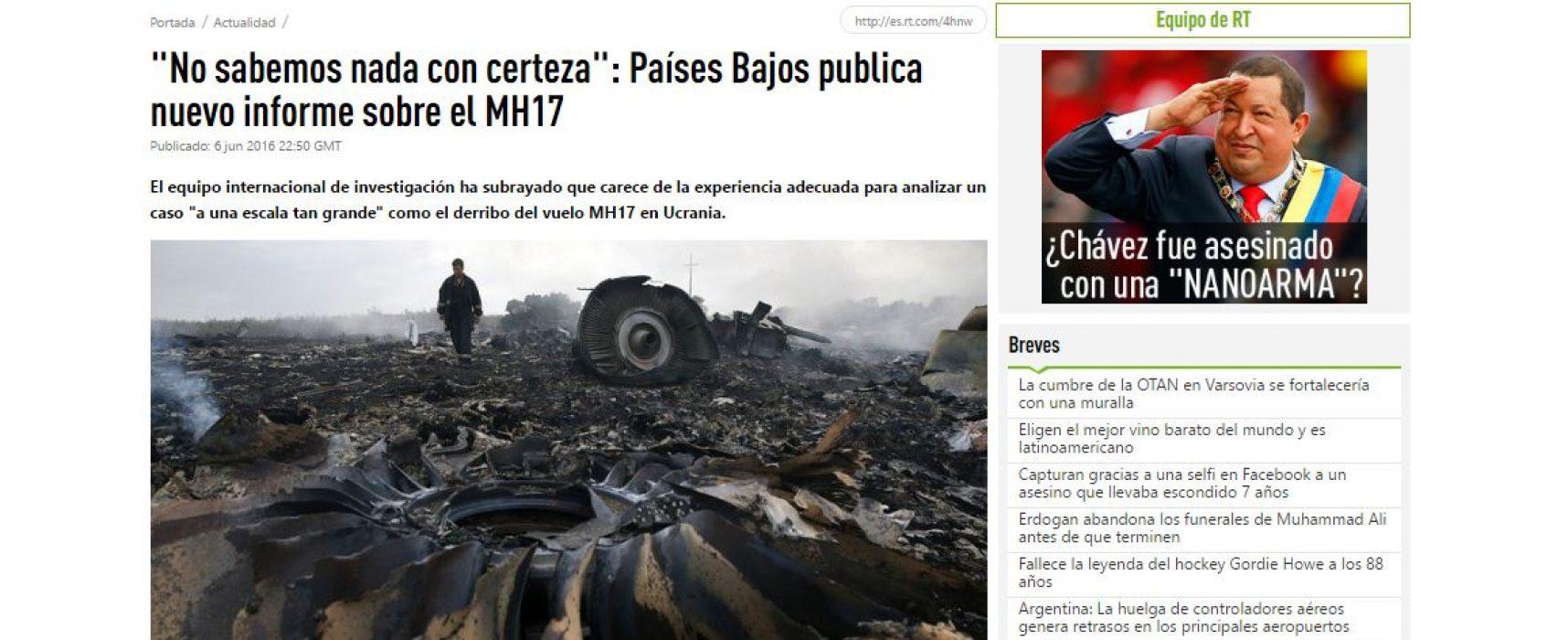 RT ha alterato il testo del rapporto sul caso MH17