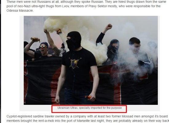 Rechtse sector en Mossad beschuldigd van voetbalvandalisme in Marseille
