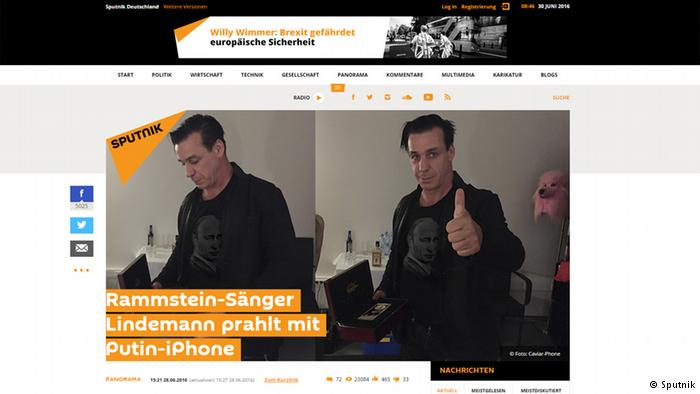 Sputnik en alemán