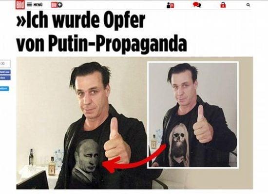 El líder de la banda alemana Rammstein cayó víctima de la propaganda de Putin
