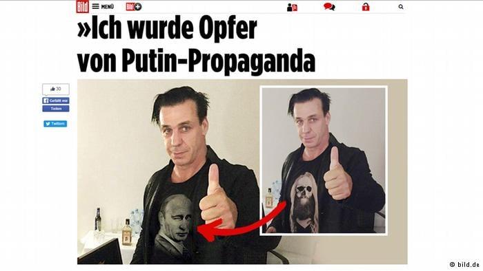El diario Bild compara la foto real con un fake