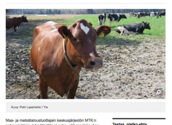 Fake: Gli agricoltori finlandesi soffrono a causa delle sanzioni russe
